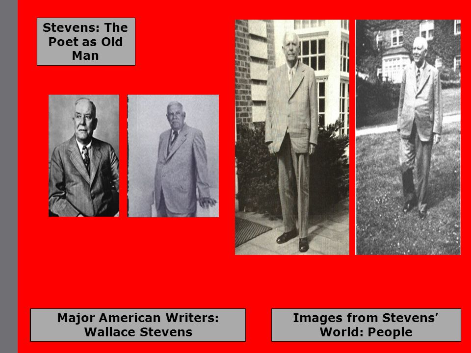 Major American Writers: Wallace Stevens Images from Stevens' World: People Stevens: The Poet as Old Man