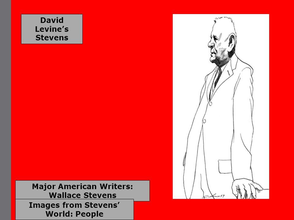 Major American Writers: Wallace Stevens Images from Stevens' World: People David Levine's Stevens