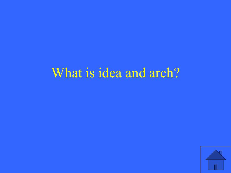 What is idea and arch
