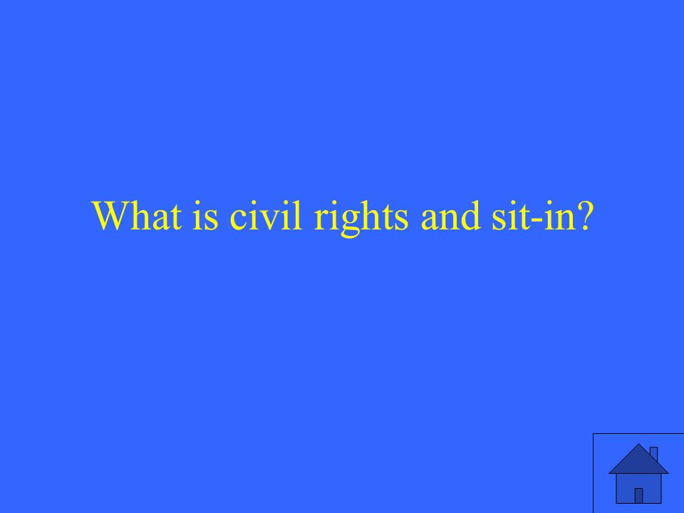 What is civil rights and sit-in