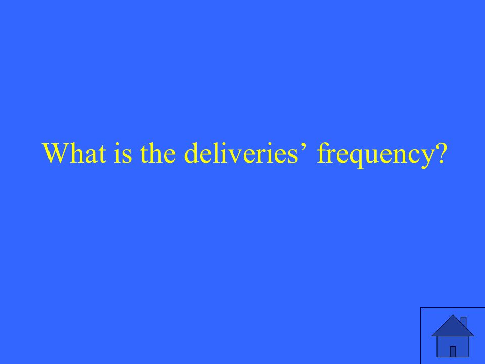 What is the deliveries' frequency
