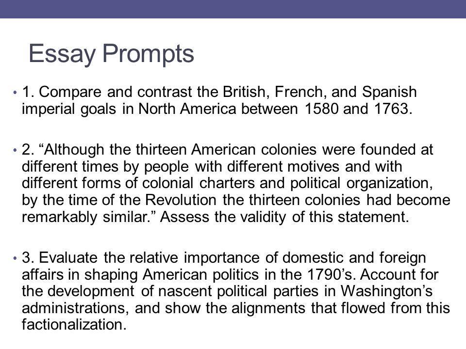 Essay Prompts 1.