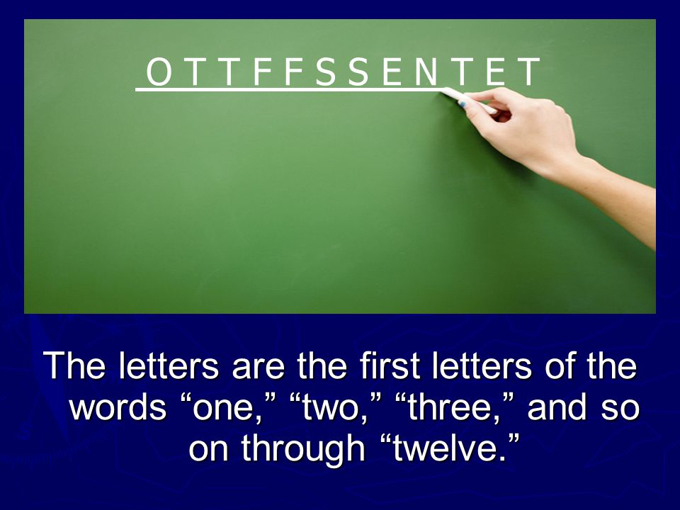 What letter comes next in this sequence? O T T F F S S E N T E T