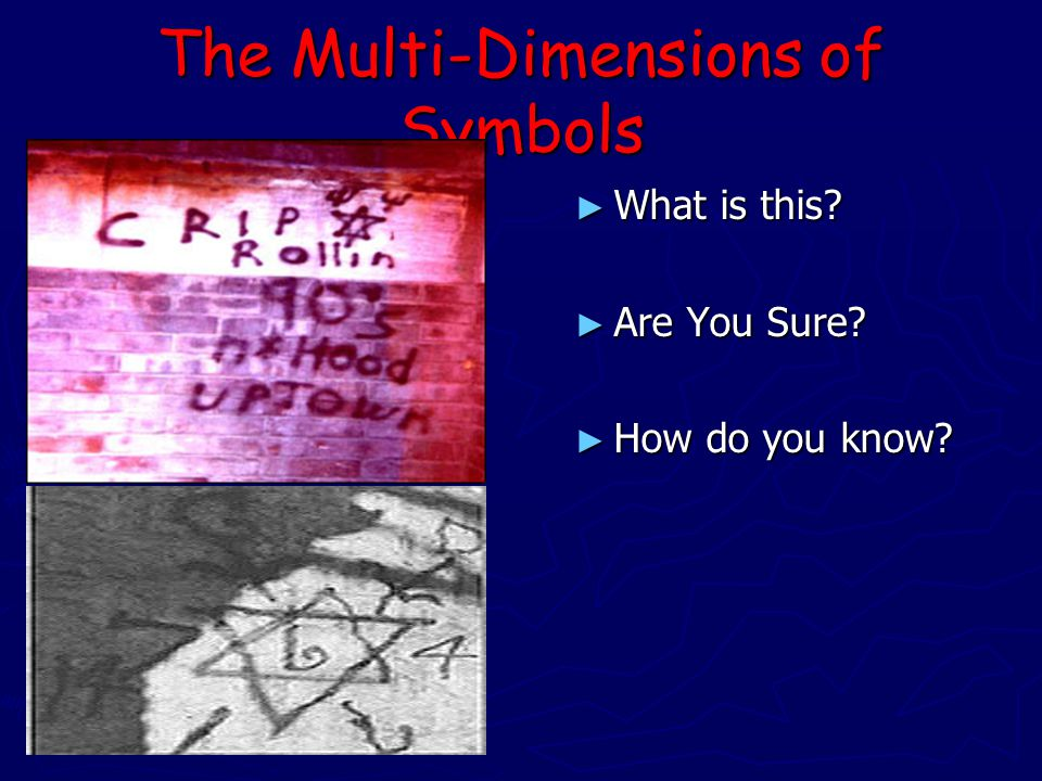 The Multi-Dimensions of Symbols ► What is this ► Are You Sure ► How do you know