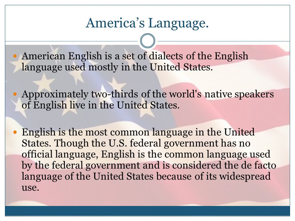 America's Language.
