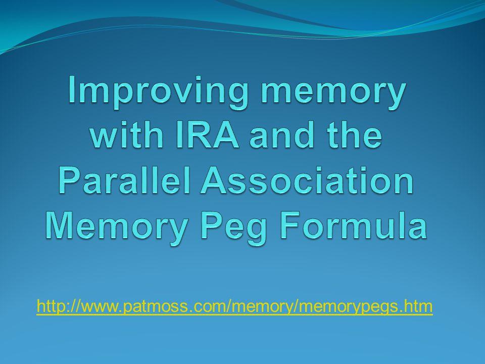 http://www.patmoss.com/memory/memorypegs.htm