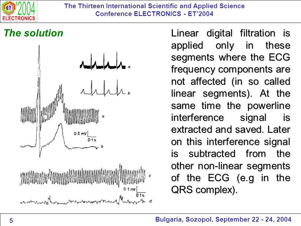 Bulgarian Patent - 1980 The Thirteen International Scientific and Applied Science Conference ELECTRONICS - ET'2004 Bulgaria, Sozopol, September 22 - 24, 2004 [1] Levkov C., Mihov G., Ivanov R., and Daskalov.