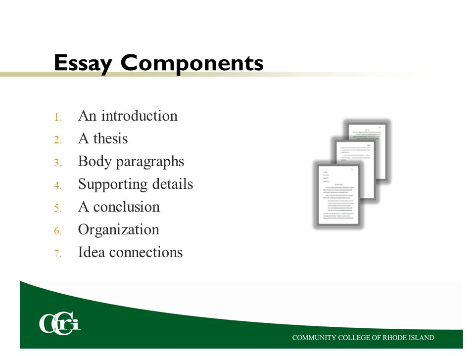 components of an essay intro