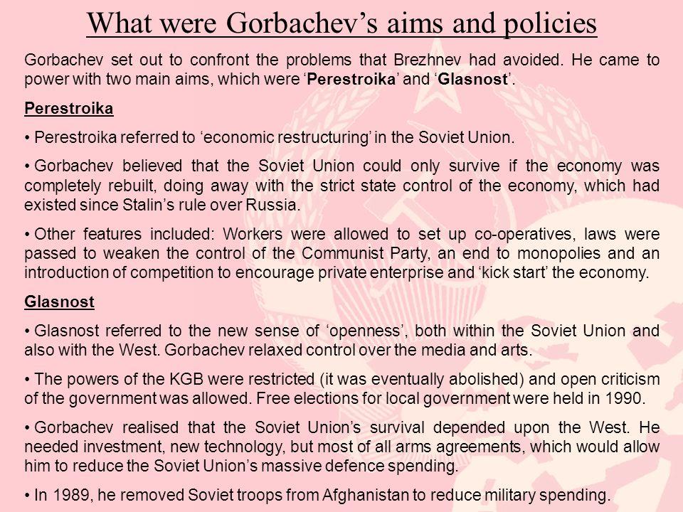 Why did Gorbachev's policies fail.