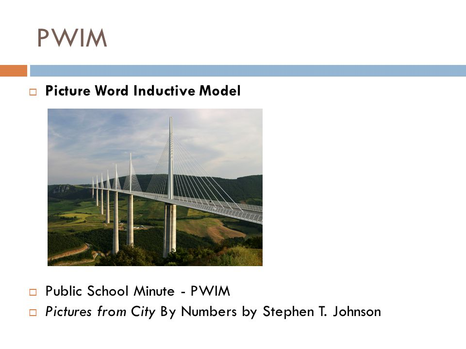 PWIM  Picture Word Inductive Model  Public School Minute - PWIM  Pictures from City By Numbers by Stephen T.