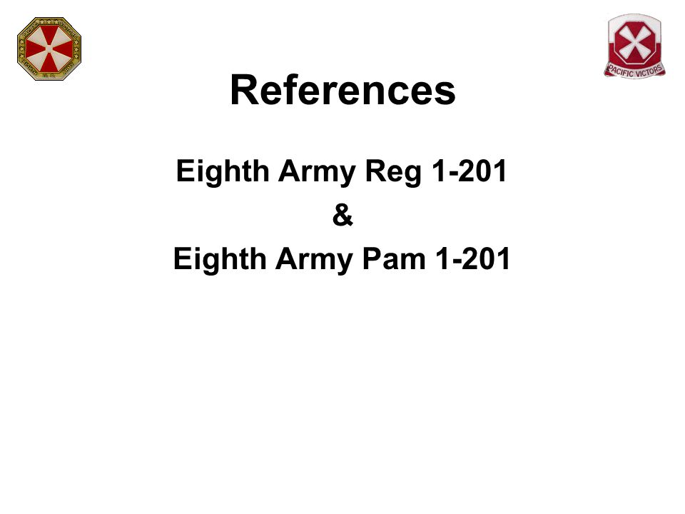 Responsibilities Eighth Army G4 is the executive agent Composed of representatives of thirteen functional areas G1 Policy and Programs Division Chief serves as the Functional Area CIP Team chief for the inspection of Personnel Management and Administration