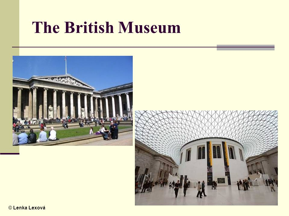© Lenka Lexová The British Museum