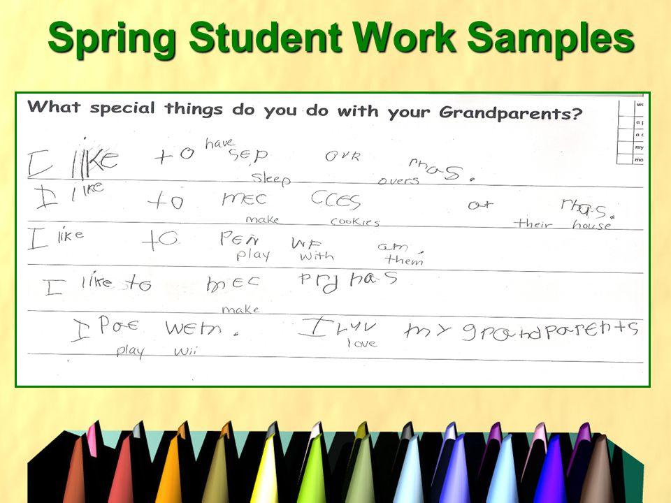 Spring Student Work Samples