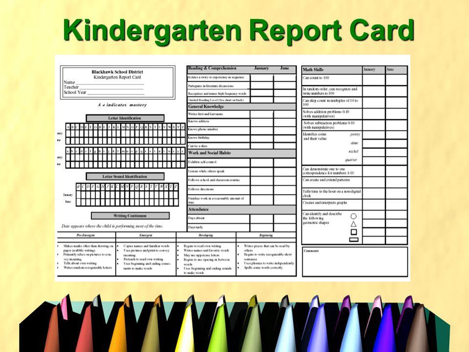 Kindergarten Report Card