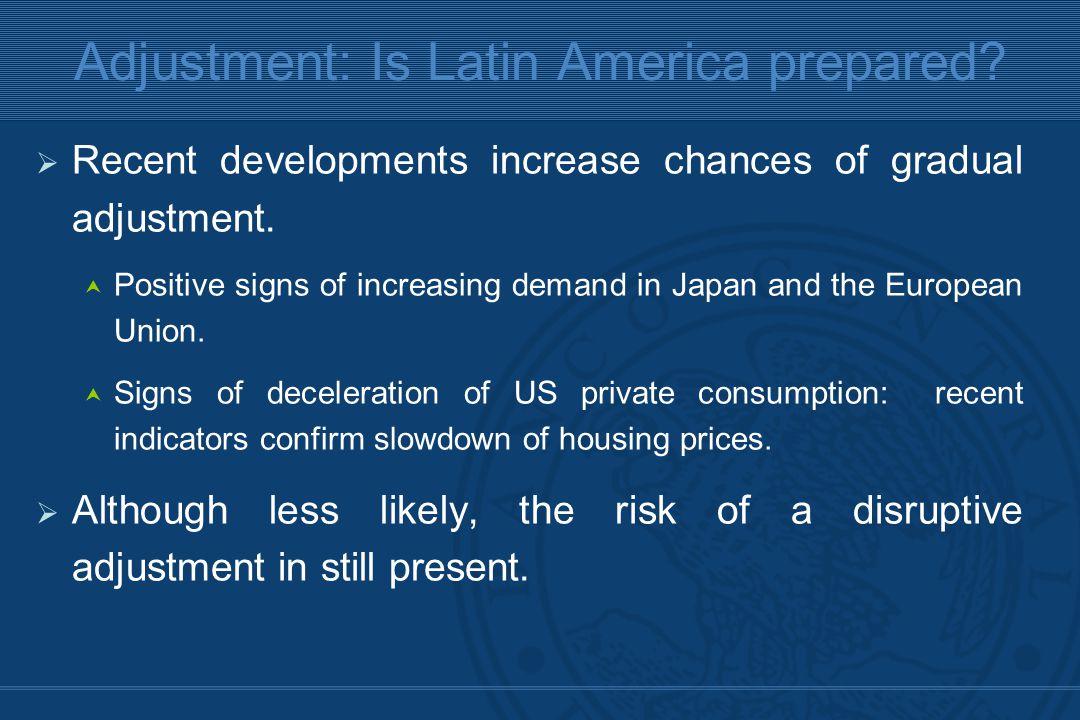  Recent developments increase chances of gradual adjustment.