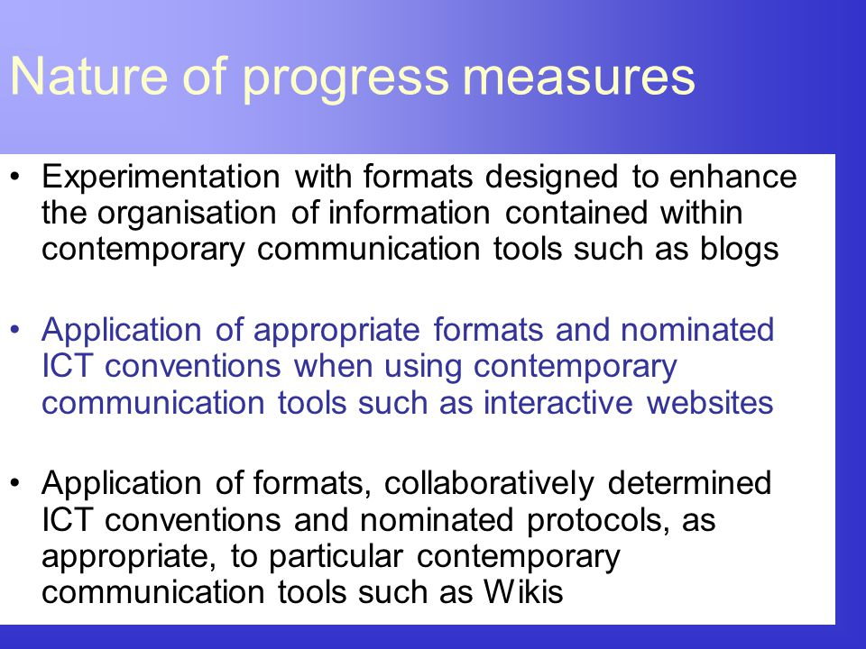 Experimentation with formats designed to enhance the organisation of information contained within contemporary communication tools such as blogs Appli