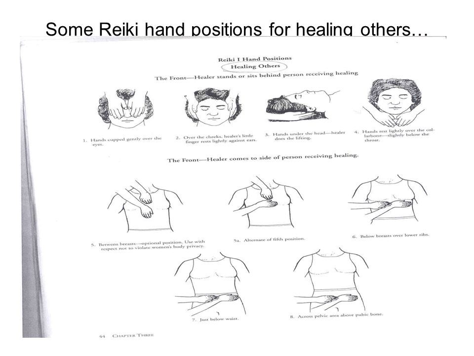 Some Reiki hand positions for healing others…