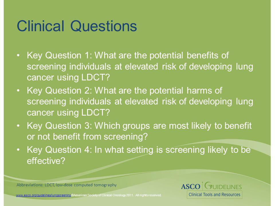 www.asco.org/guidelines/lungscreeningwww.asco.org/guidelines/lungscreening ©American Society of Clinical Oncology 2011.