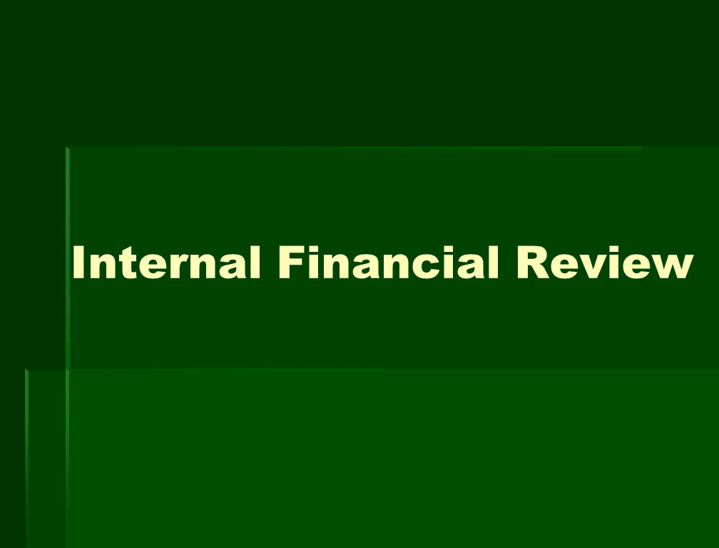 Internal Financial Review