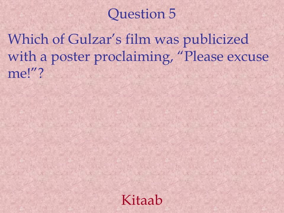 Question 6 Which was the first amateur film scripted and directed by Spielberg, at the age of thirteen.