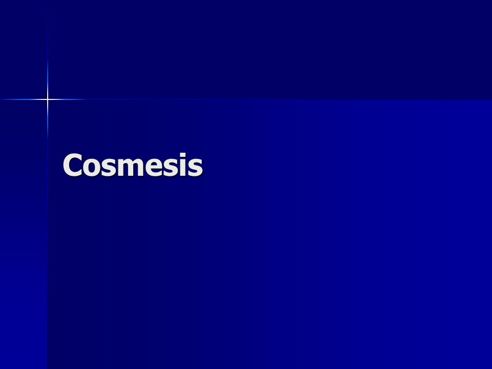 Cosmesis Difference in cosmetic score at 3 months after surgery of 1Difference in cosmetic score at 3 months after surgery of 1
