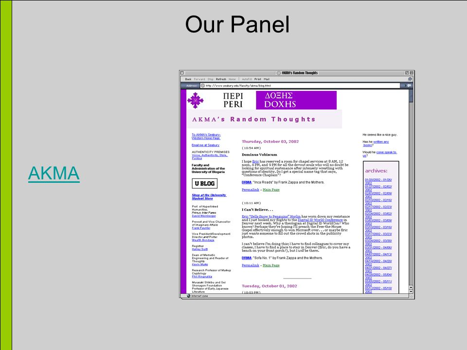 Our Panel AKMA