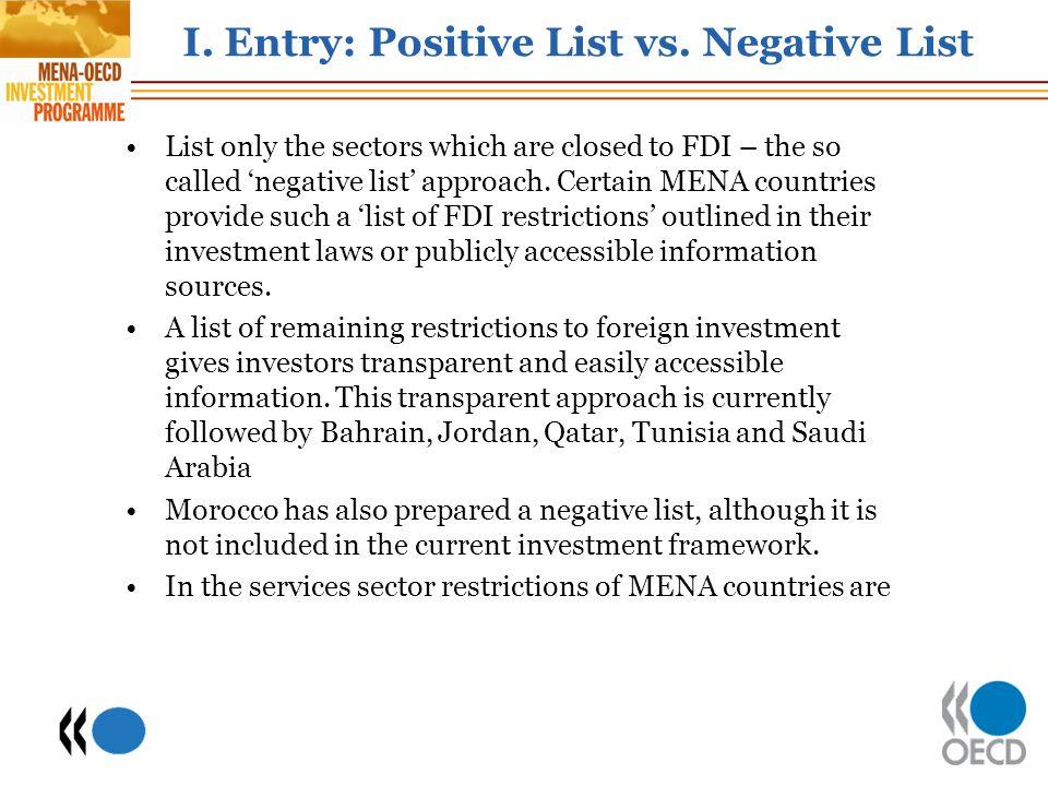 I.Entry: Positive List vs.