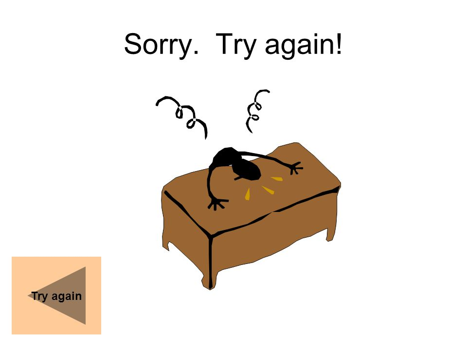 Sorry. Try again! Try again