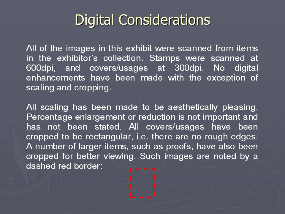 Digital Considerations