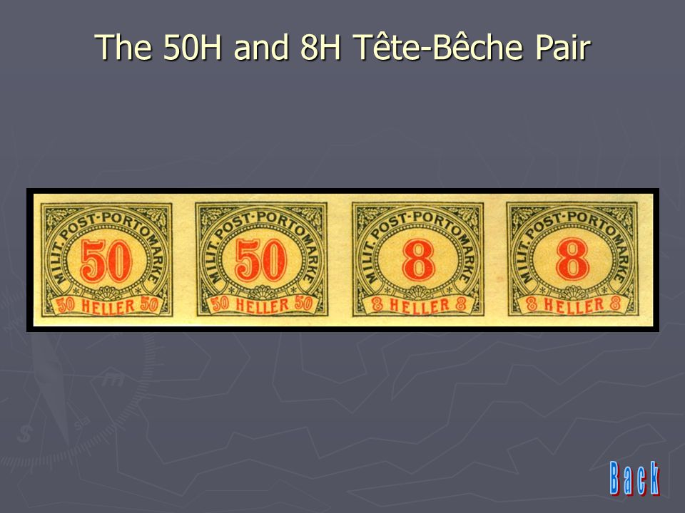 The 50H and 8H Tête-Bêche Pair