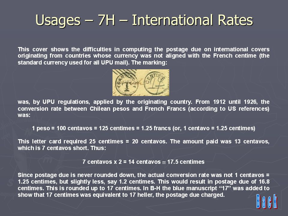 Usages – 7H – International Rates