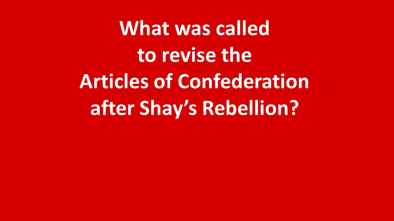 The United States' first federal constitution was called what?