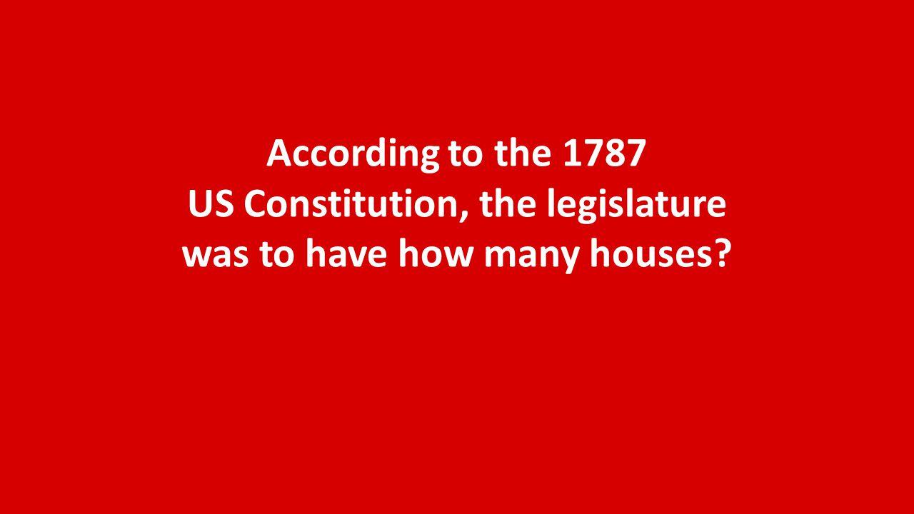 Under what document did GA have a unicameral legislature?