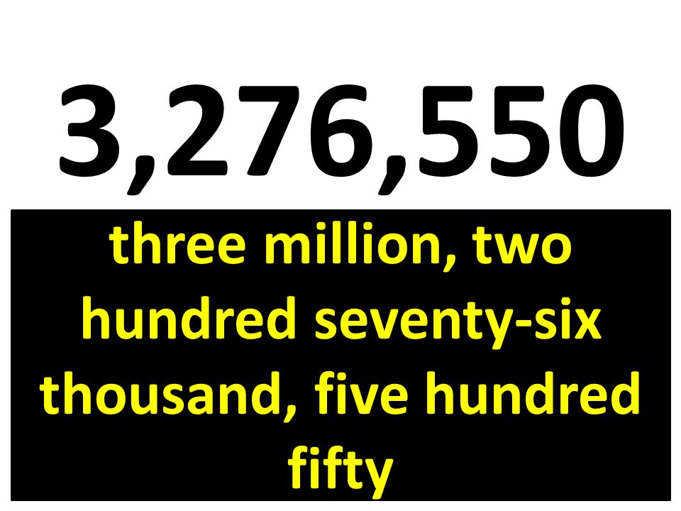 57,008,911 fifty-seven million, eight thousand, nine hundred eleven