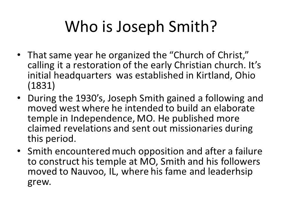 Who is Joseph Smith.