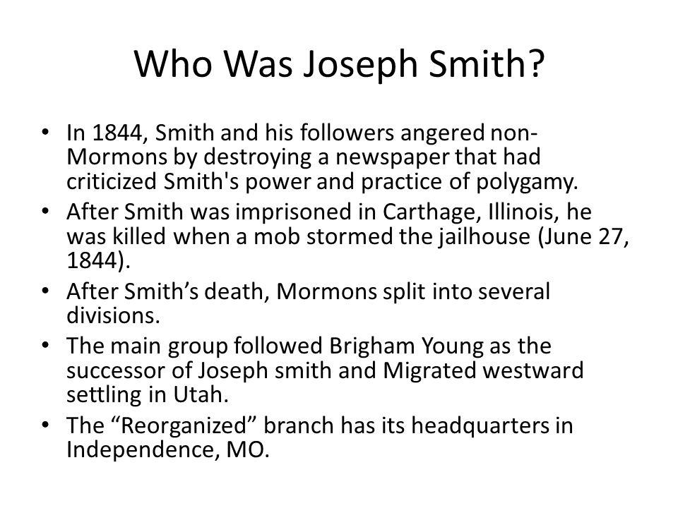 Who Was Joseph Smith.