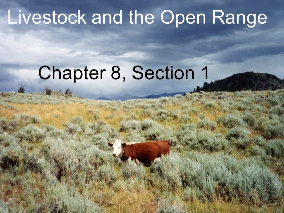 Livestock and the Open Range Chapter 8, Section 1