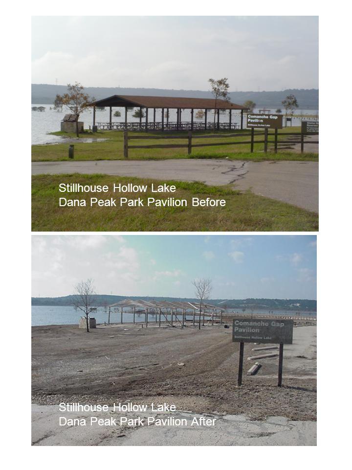 Stillhouse Hollow Lake Dana Peak Park Pavilion Before Stillhouse Hollow Lake Dana Peak Park Pavilion After