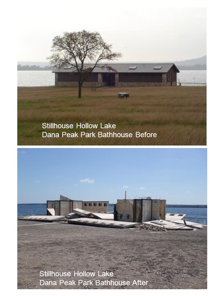 Stillhouse Hollow Lake Dana Peak Park Bathhouse Before Stillhouse Hollow Lake Dana Peak Park Bathhouse After