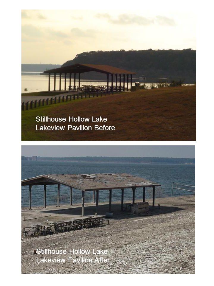 Stillhouse Hollow Lake Lakeview Pavilion Before Stillhouse Hollow Lake Lakeview Pavilion After
