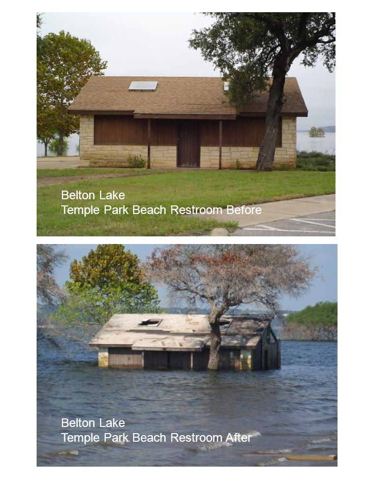 Belton Lake Temple Park Beach Restroom Before Belton Lake Temple Park Beach Restroom After