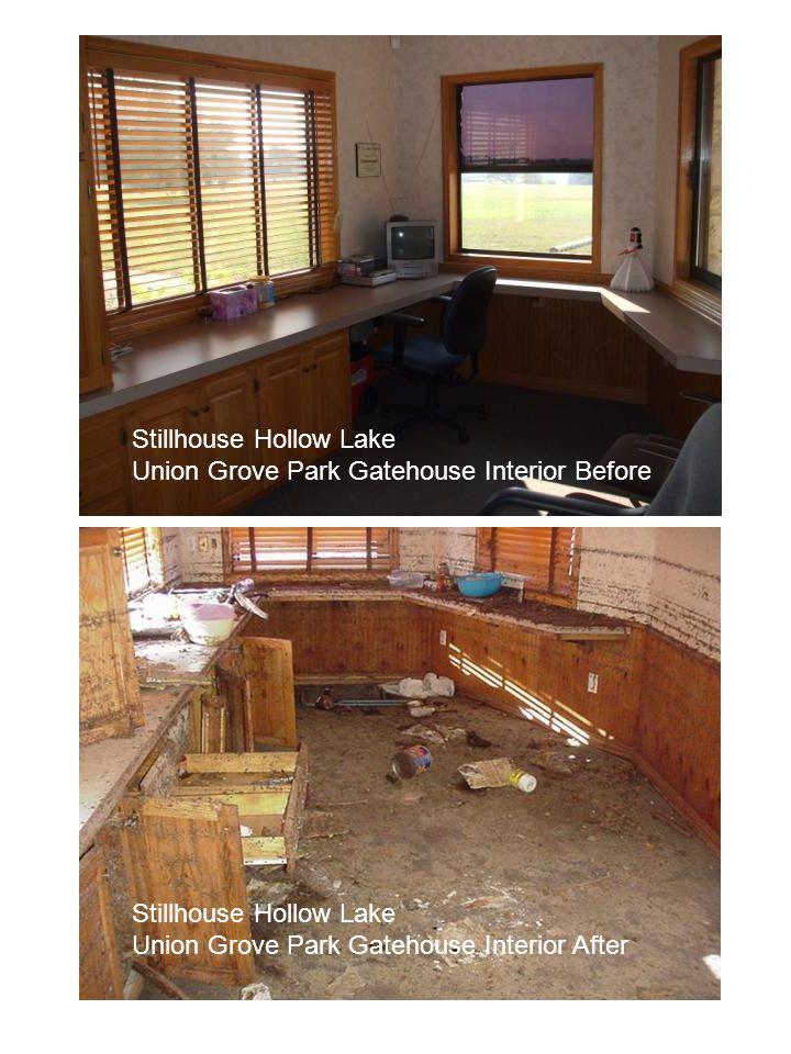 Stillhouse Hollow Lake Union Grove Park Gatehouse Interior Before Stillhouse Hollow Lake Union Grove Park Gatehouse Interior After