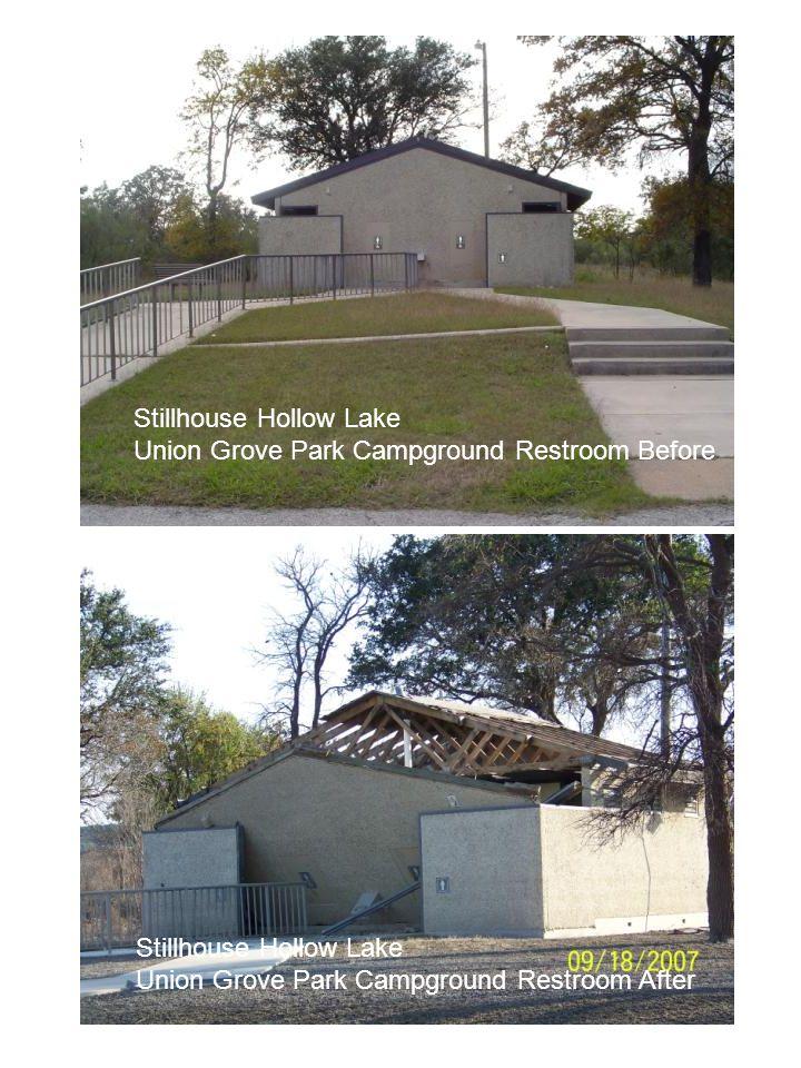Stillhouse Hollow Lake Union Grove Park Campground Restroom Before Stillhouse Hollow Lake Union Grove Park Campground Restroom After Stillhouse Hollow
