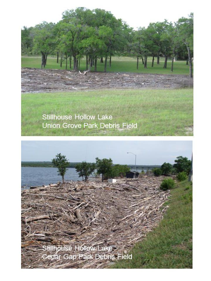 Stillhouse Hollow Lake Union Grove Park Debris Field Stillhouse Hollow Lake Cedar Gap Park Debris Field