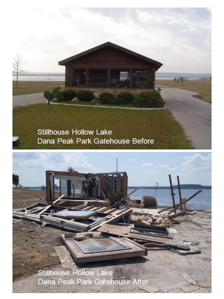 Stillhouse Hollow Lake Dana Peak Park Gatehouse Before Stillhouse Hollow Lake Dana Peak Park Gatehouse After