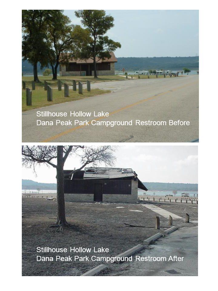 Stillhouse Hollow Lake Dana Peak Park Campground Restroom Before Stillhouse Hollow Lake Dana Peak Park Campground Restroom After