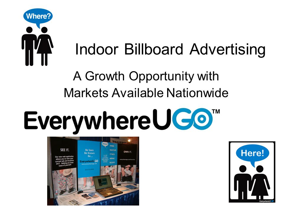 Indoor Billboard Advertising A Growth Opportunity with Markets Available Nationwide