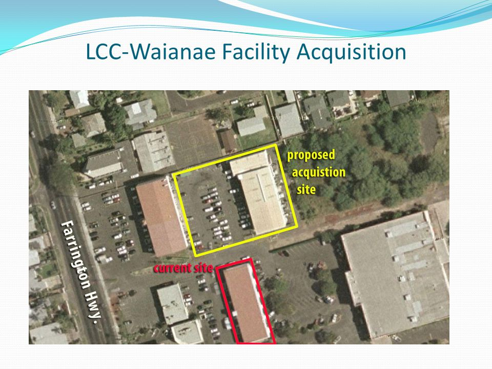 LCC-Waianae Facility Acquisition