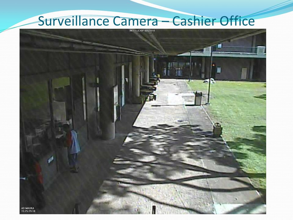 Surveillance Camera – Cashier Office