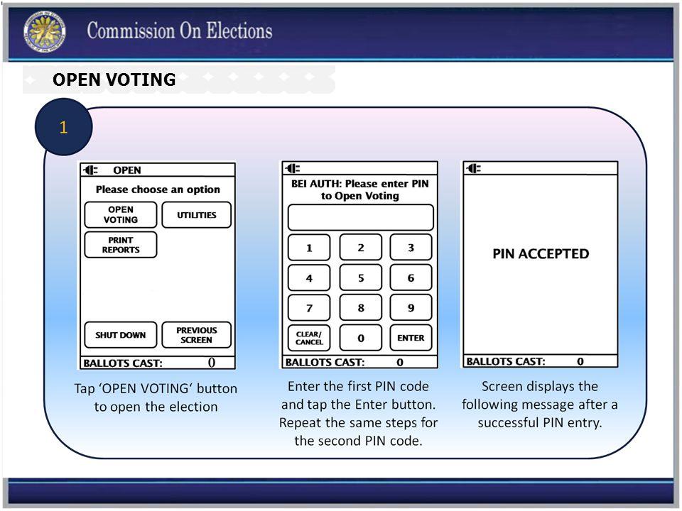 OPEN VOTING